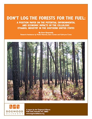 Don't Log Forests for Fuel